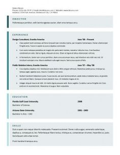Curriculum vitae template free download south africa free cv fading blue edge lines and backgrounds highlight each section down the template one column format with plus sign bullets for job descriptions yelopaper Image collections