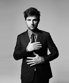 Actor Adam Scott compares his career to a frog in room temperature water. Description from ohnotheydidnt.livejournal.com. I searched for this on bing.com/images