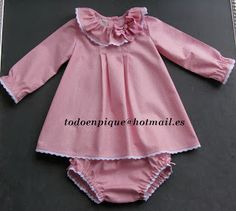 TODO EN PIQUE para bebé Little Fashion, Cute Fashion, Boy Fashion, Fall Baby Clothes, Baby Doll Clothes, Baby Dress, Dress Up, Dress Anak, Baby Sewing