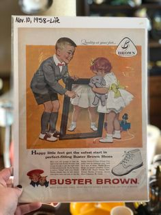 1958 Buster Brown Shoes Advertisement. Life Magazine. by WickedCoolKitsch on Etsy https://www.etsy.com/listing/575816978/1958-buster-brown-shoes-advertisement