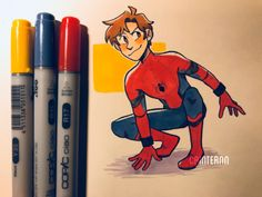 How To Draw People - Cartoon And Realistic - Drawing On Demand Marvel Fan Art, Marvel Dc Comics, Marvel Avengers, Marvel Drawings, Cartoon Drawings, Cartoon Art, Spiderman Drawing, Spiderman Art, Spiderman Homecoming Drawing