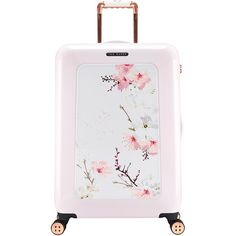 Ted Baker Oriental Blossom Suitcase - Medium (1.115 BRL) ❤ liked on Polyvore featuring bags, luggage, suitcase, accessories, travel and pink