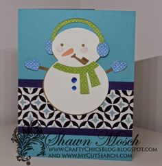 Bundled Up Snowman Homemade Christmas Card   This snowman DIY card is perfect for all your Christmas wishes.