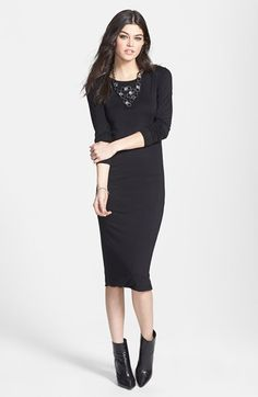 Free shipping and returns on Leith Jersey Body-Con Midi Dress at Nordstrom.com. Smooth, stretch-infused jersey fashions a figure-forming midi dress that's perfectly versatile for incredible styling opportunities.