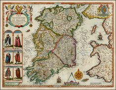 Antique Colour Map of Ireland by John Speed (Cartographer). ... Give credit where due. http://pinterest.com/about/etiquette/ http://www.pinterestnews.org/2012/06/23/beginner
