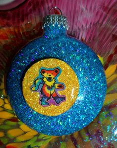 GRATEFUL DEAD Dancing BEAR Glass HoLoGrApHiC by ElectricLadyland1