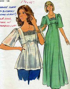 Vintage Butterick 4749 UNCUT Misses Empire Waist by RomasMaison