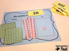 Teaching NBT for and Second Grade Math place value activities for hundreds, tens, and ones. Teaching NBT for and for CCSS 2nd Grade Classroom, Math Classroom, Kindergarten Math, Teaching Math, Maths, Preschool, Math Multiplication, Math Games, Place Value Activities