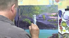 """Learn To Paint TV E4 """"Buderim Falls"""" Beginners Acrylic Painting Lessons. Painting Waterfalls"""