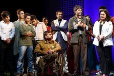 zeeshan ahmad with team of daddy ( play by mahesh bhatt )