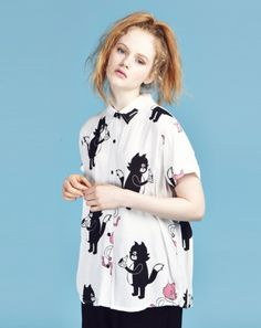 Lazy Oaf Drunk Alley Cats Shirt #fashion #style #outfit