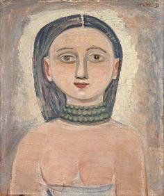 Massimo Campigli, Ritratto di ragazza, 1950