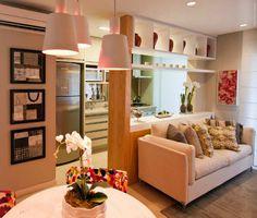 Cozinha e Sala | Apartamentos pequenos | Divisória entre sala e cozinha | Decoração