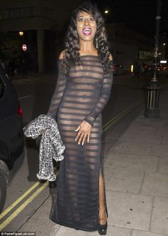 A sheer shock! On Wednesday night Sinitta made sure everyone would remember her latest red...