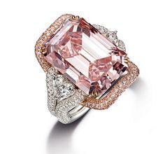 16.27-Carat-Internally-Flawless-Emerald-Cut-Fancy-Pink-Diamond-Ring I want one big daddy!!! lol