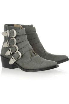 b51e02ace3754 Toga - Buckled suede ankle boots