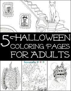 5 Halloween Coloring