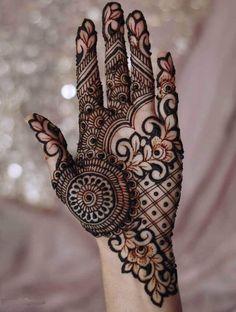 Bridal Henna Mehndi Designs for Full Hands Henna Hand Designs, Modern Henna Designs, Mehndi Designs Finger, Latest Bridal Mehndi Designs, Full Hand Mehndi Designs, Mehndi Designs 2018, Mehndi Designs For Girls, Stylish Mehndi Designs, Mehndi Designs For Beginners