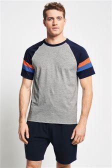 Arm Stripe Jersey Short Set