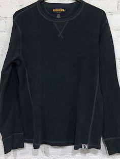 Ralph Lauren Rugby Long Sleeve Crewneck Thermal T Shirt Size XLarge Navy Blue #RugbyRalphLauren #CrewneckThermal