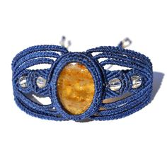"""Macrame bracelet """"Inti"""" by designer Coco Paniora Salinas of Rumi Sumaq"""