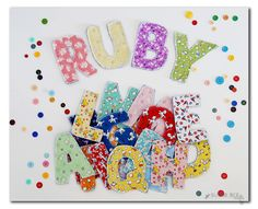 sewing alphabet letters how to sew