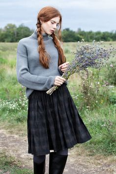 Inspiration Album: Wind in the Willows : femalefashionadvice - English Country Mode Tartan, Tweed, Countryside Fashion, Style Anglais, Scottish Fashion, Scottish Women, Scottish Outfit, Scottish Skirt, Scottish Clothing