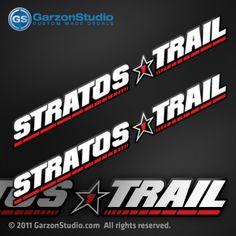 Stratos trail trailer decal set Boat Organization, Organize, Trail, Decals, Stars, Tags, Sticker, Decal, Sterne