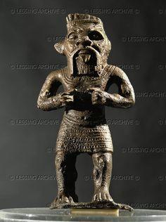 ASSUR SCULPTURE 10TH-6TH BCE The Egyptian God Bes. Bronze figure from Fort Shalmaneser, Nimrud (Kalash), Mesopotamia (Iraq) Height: 12.2 cm Nr. 61872 Iraq Museum, Baghdad, Iraq