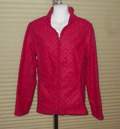 9d9e30fc74c4 new LANDS' END Lightweight Fleece Jacket sz M 10-12 DARK PINK nwt #fashion # clothing #shoes #accessories #womensclothing #coatsjacketsvests (ebay link)