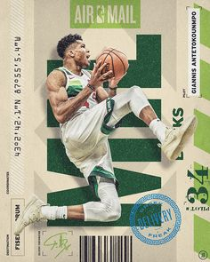 (Personal project) This series combines design and typographic elements from travel and mail-related tags, tickets, and packaging to showcase NBA stars who deliver dunks and daggers through the air. Basketball Posters, Basketball Design, Basketball Art, Sports Posters, Soccer, Sports Graphic Design, Sport Design, Nba Pictures, Sports Marketing