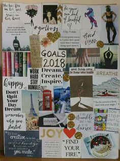 How to make a Vision Board that works. This is my Vision Board for 2018. - DLF Diaries by shraddha