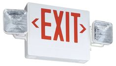 provide a convenient update for your home by using contractor select led emergency exit sign fixture unit combo from lithonia lighting