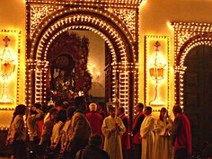 The Festival of the Lord Holy Christ of the Miracles, in Ponta Delgada, São Miguel Island.