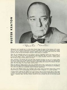 "Buster Keaton's bio in a ""Once upon a Mattress"" program"