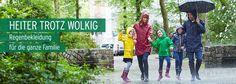 Heiter trotz wolkig: Regenbekleidung für die Familie bei Tchibo