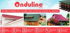 Sistema de cobertura ecológico, leve, resistente, com 15 anos de garantia de impermeabilização, você encontra somente nas telhas Onduline.