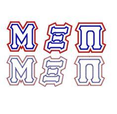 Mega Greek Applique Machine Embroidery Fonts 1502 by EmbFonts, $12.00
