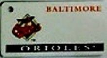 """This is an MLB Baltimore Orioles Team License Plate Key Chain or Tag. An excellent and affordable gift for an avid MLB fan! The key chain is available with engraving or without engraving. It is a standard key chain made of durable plastic and size is approximately 1.13"""" x 2.25"""" and 1/16"""" thick."""