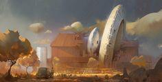 science fiction artwork   artwork, Science Fiction, Classic Car, Crash Wallpapers HD / Desktop ...