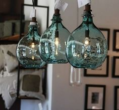 I just saw these lamps (in clear glass) while eating lunch in Denton, TX.  They were hanging over the bar and looked great.