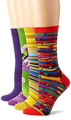 TOPSELLER! Ozone Women's 4 Pack Crew Socks - Vio... $60.00