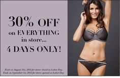 30% off EVERYTHING in store! 4 days only!   #VerySexy #Sale #Lingerie