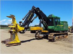 Need a new Feller Buncher? We have a great selection of John Deere Forestry Equipment! Check them out at www. Woods Equipment, John Deere Equipment, Logging Equipment, Equipment For Sale, Heavy Equipment, John Deere For Sale, Timber Logs, Heavy Construction Equipment, Engin