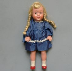 Vintage Celluloid Doll Germany Mini by jujubeezcloset on Etsy, $5.00