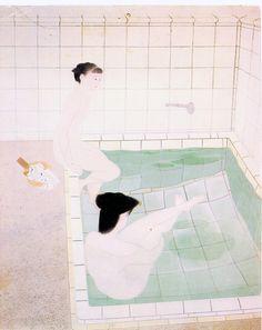 """Bathing Women"" by Yuki Ogura, 1938  One of my favorite paintings ever."