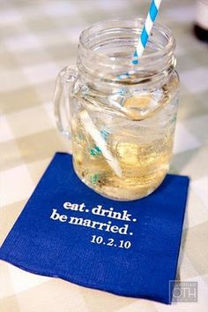 napkin love- eat drink and be married