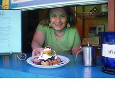 Waffle Window. Menu based entirely around waffles - sounds super interesting! Dog friendly outside seating.