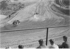 Whirling up dirt on the dirt track (1955)