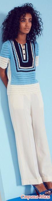 Вязаные кофточки и платья из Vogue 2017. - Страна Мам
